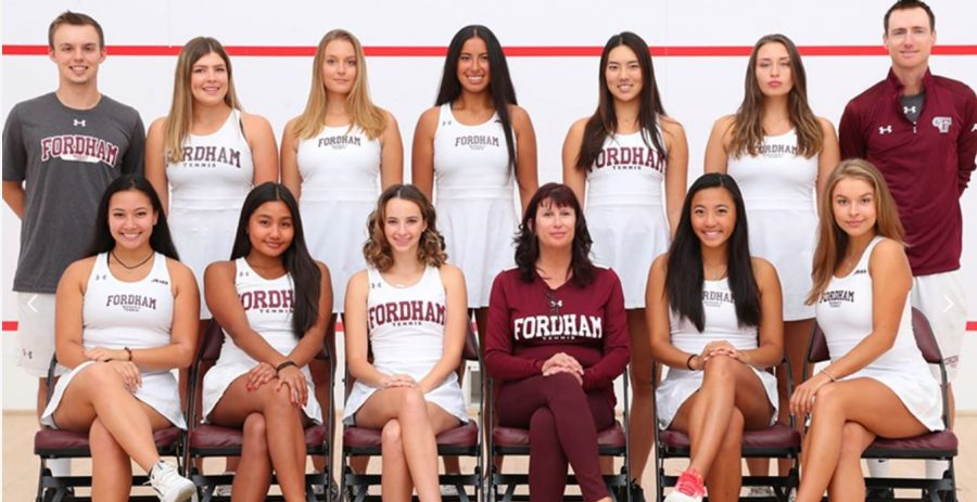 The Fordham women's tennis team (above) had its season abruptly cut short in March. (Courtesy of Fordham Athletics)