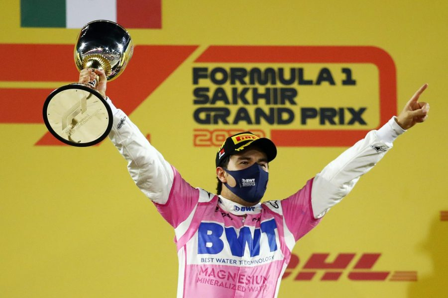 A comeback win at the Sakhir Grand Prix was the first of Perez's career. (Courtesy of Twitter)