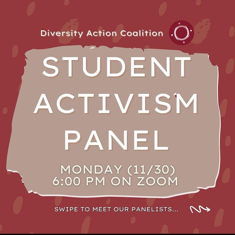 This was the first Student Activism panel hosted by the Diversity Action Coalition in order to help bring attention to student activism on campus. (Mackenzie Cranna/ The Fordham Ram)