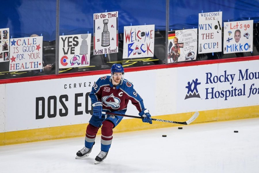 New addition Devon Toews aims to help push the favorited Avalanche to the Stanley Cup Finals. (Courtesy of Twitter).