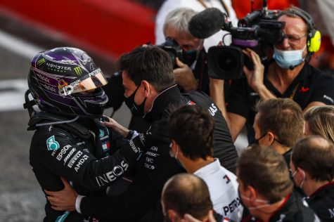 An F1 season unlike any other saw a familiar champion as Lewis Hamilton (above) continues to challenge the record books. (Courtesy of Twitter)