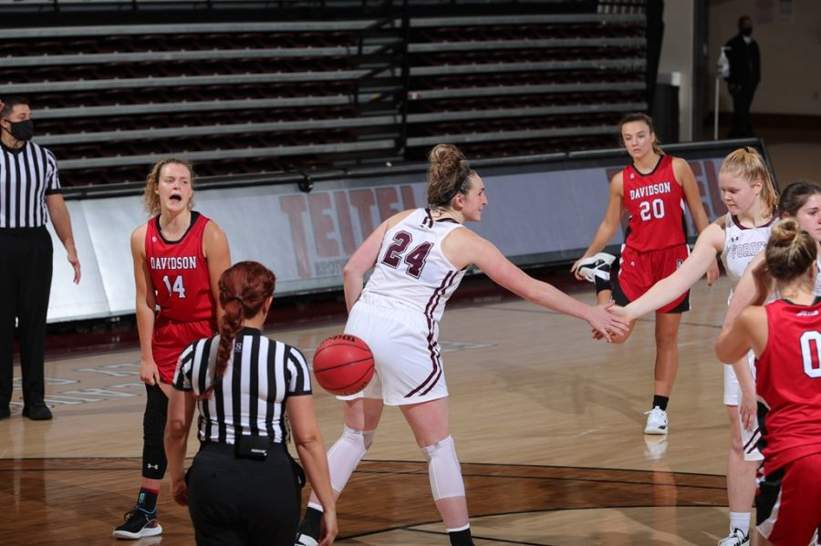 Kaitlyn Downey (above) and the Rams' leading trio paved the way past the Billikens. (Courtesy of Fordham Athletics)