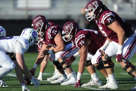 Fordham Football looks forward to setting up at the line of scrimmage again this season. (Courtesy of Fordham Athletics)