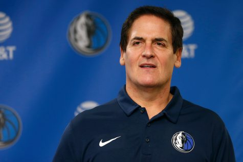 Dallas Mavericks owner Mark Cuban (above) stated that his team was considering no longer play the National Anthem before games. (courtesy of Twitter)