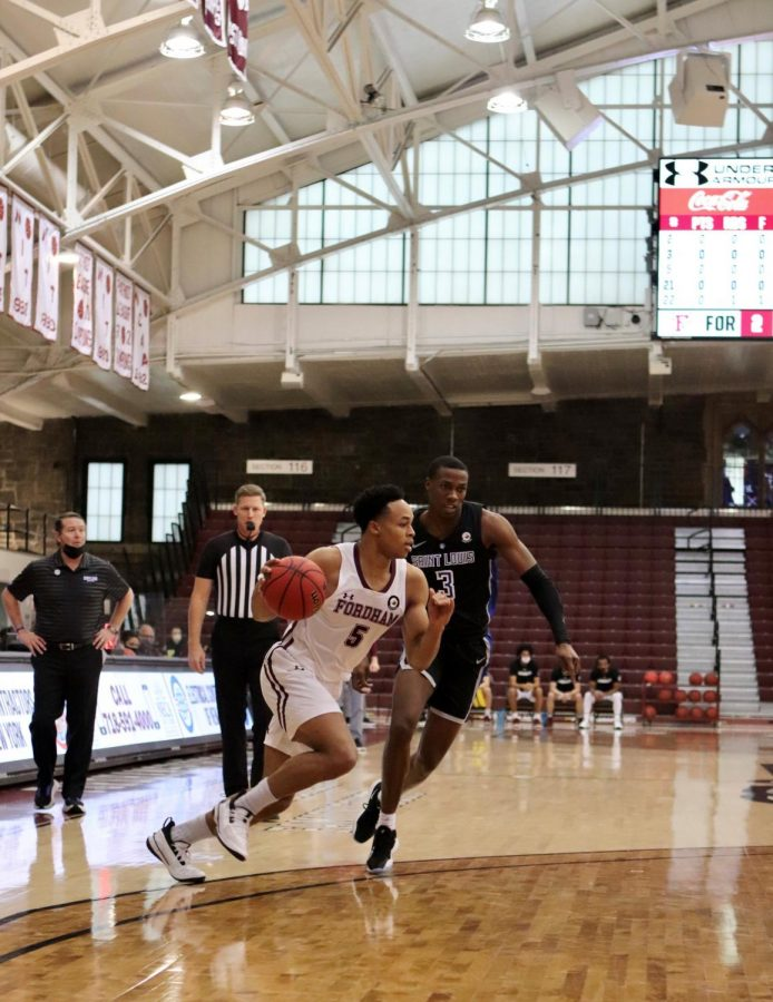 Chris Austin (above) was the lone bright for a struggling Fordham offense against Saint Louis. (Mackenzie Cranna/The Fordham Ram)