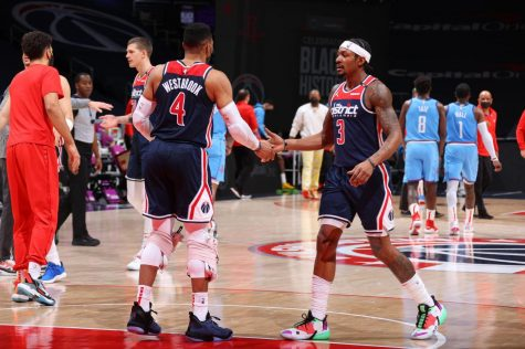 Russell Westbrook and Bradley Beal were able to defeat their former teammates in a game against the Houston Rockets. (Courtesy of Twitter)