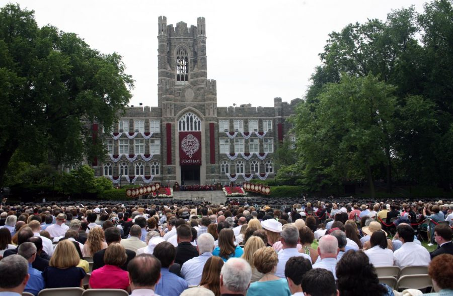 Due to the ongoing pandemic, Fordham plans on hosting a hybrid Commencement ceremony. (Courtesy of Flickr)