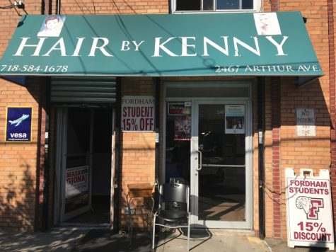 Hair by Kenny is just one of many family-owned businesses on Arthur Avenue. (Courtesy of The Belmont BID)