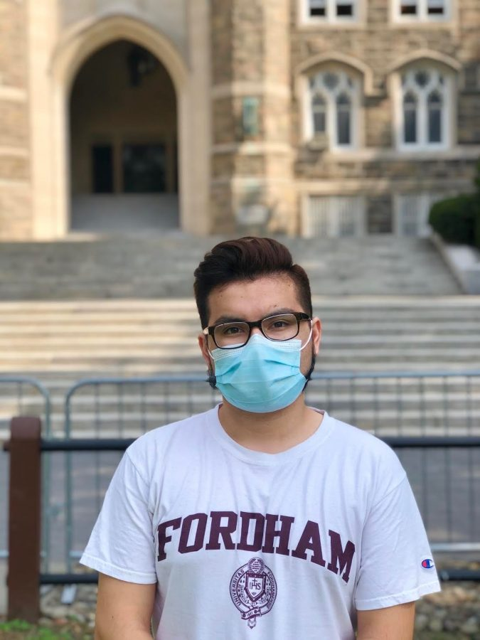 Andres Salgado, FCRH '21, researches stress and anxiety in STEM students. (Sebastian Diaz/The Fordham Ram)