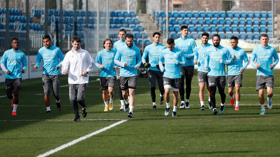 Real Madrid is training to ensure that they start the knockout stages on the right track. (Courtesy of Twitter)