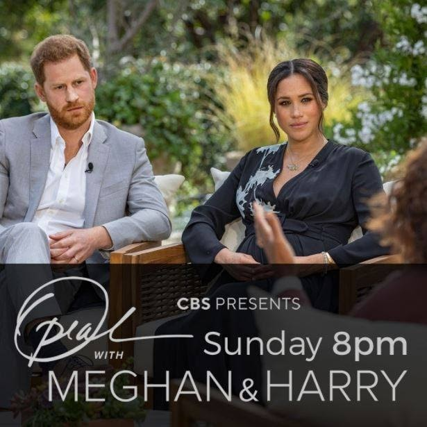 17 million people tuned into Oprah's interview with the Duke and Duchess of Sussex which aired on CBS. (Courtesy of Facebook)