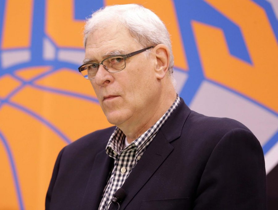 Former Knicks President Phil Jackson blamed everyone but himself for the unsuccessful seasons he had as the organization's president. (Courtesy of Twitter)