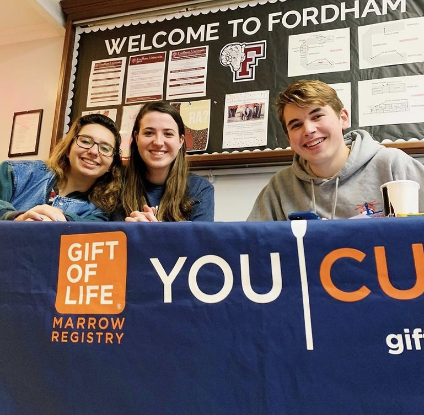 Fordham's Gift of Life Club allows students to donate bone marrow or peripheral blood stem cells to cancer patients across the country. (Courtesy of Instagram)