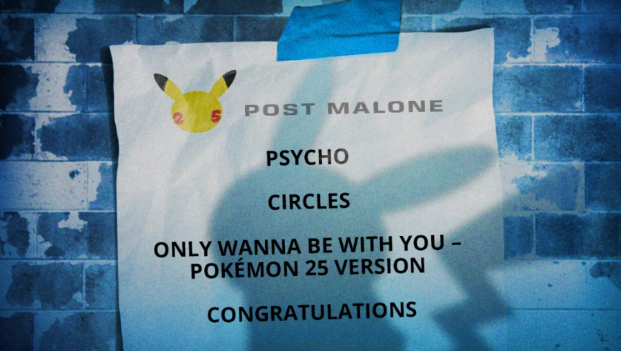"""""""Post Malone's cover of """"Just Wanna Be With You"""" bridges the gap between alt-rock and hip-hop during Pokemon 25 celebration."""" (Courtesy of Twitter)"""