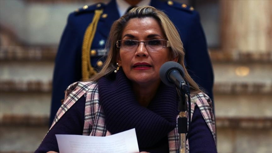 The former interim President of Bolivia, Jeanine Añez, and several of her allies, face arrest following a warrant that was issued accusing them of terrorism and sedition during the 2019 ouster of their former president, Evo Morales. (Courtesy of Twitter)