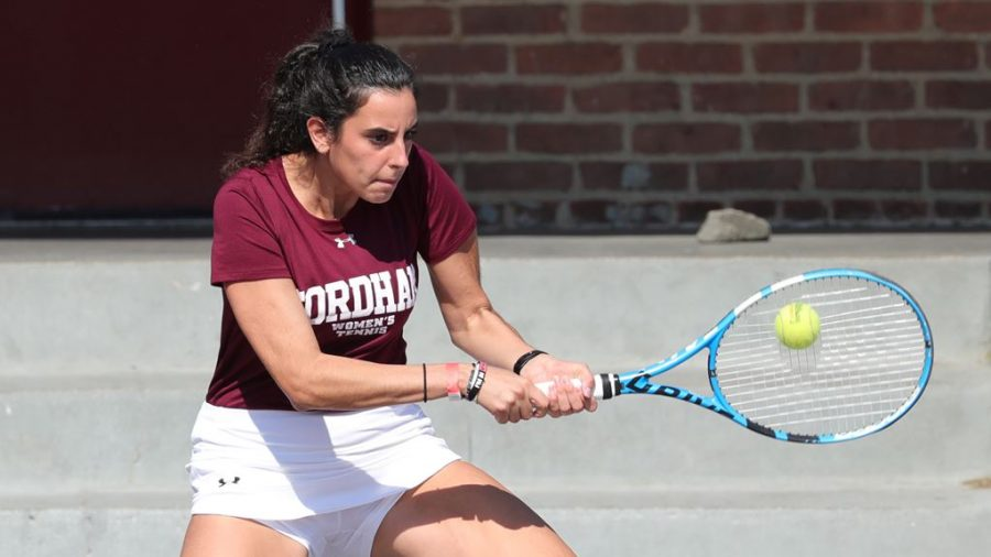 Eleni Fasoula (above) helped the Rams defeat Seton Hall 5-2 to start their home record with a win. (courtesy of Fordham Athletics)