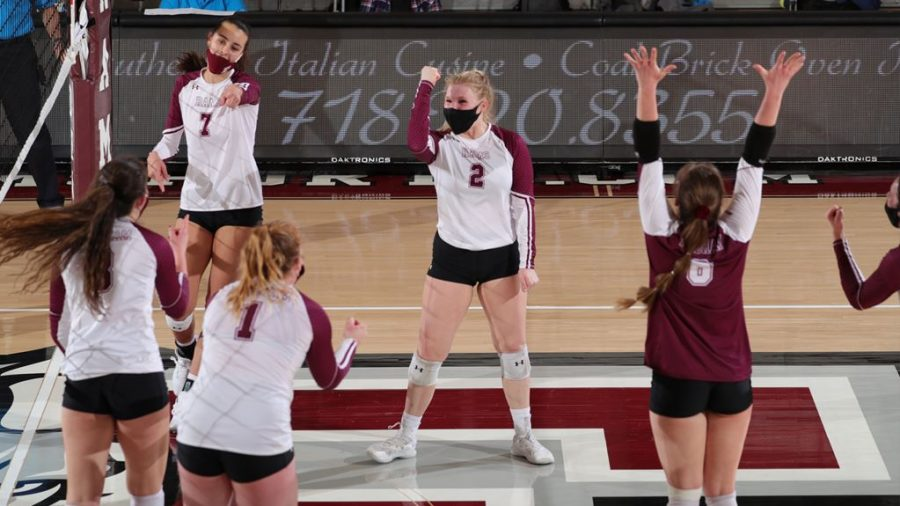 Despite losing its final two games of the season, Volleyball heads into its first postseason berth in a decade later this week. (Courtesy of Fordham Athletics)