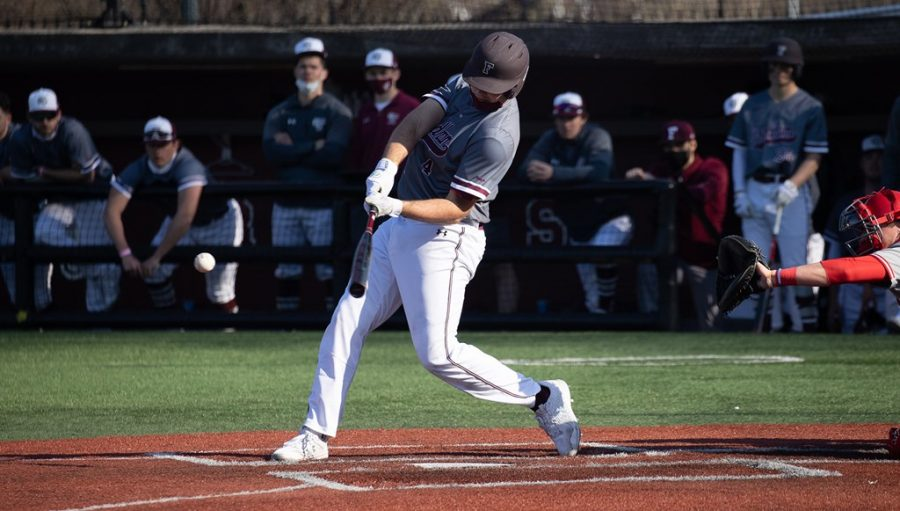 Casey Brown's (above) home run made the difference for the Rams in a nail biter against Stony Brook. (Courtesy of Fordham Athletics)
