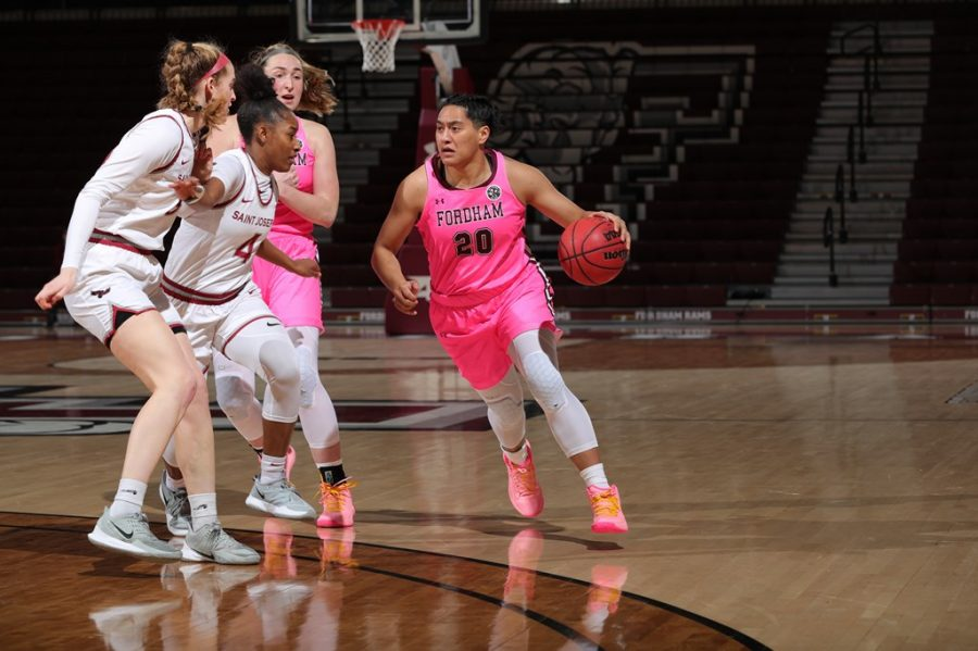 Kendell Heremaias (above) 19 points was the team-high on the day. (Courtesy of Fordham Athletics)