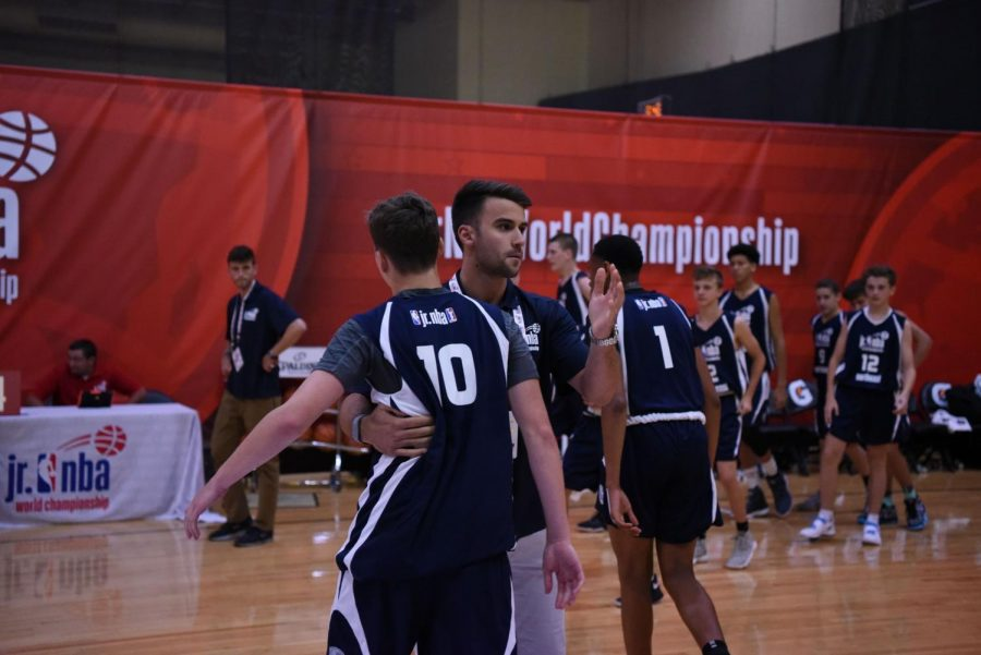 Musovic has taken a love of coaching to new heights, exemplified by his team's run at the Jr. NBA. (Courtesy of Nihad Musovic for The Fordham Ram)