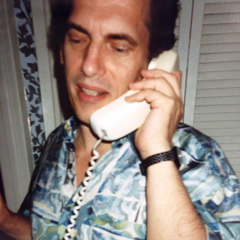 """Mr. Apology,"" also known as Allan Bridge, speaks to a caller on the Apology Line in 1994. (Courtesy of Facebook)"