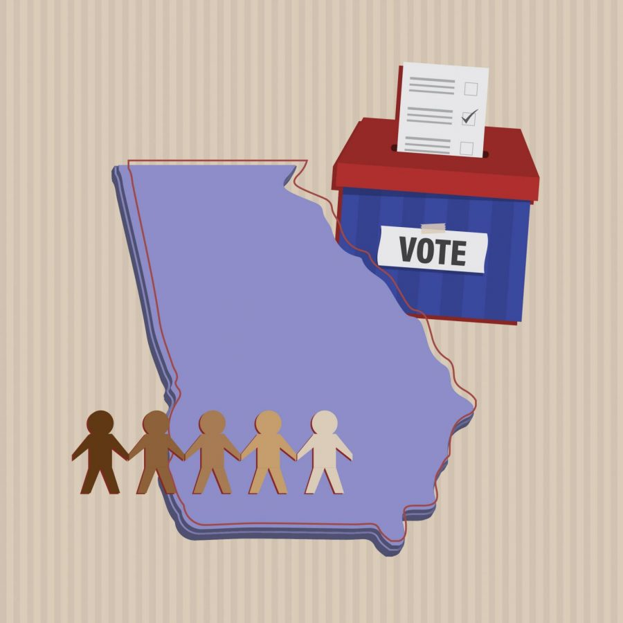 The new voting law in Georgia has received mass criticism on how it affects voting within minority populations. (Courtesy of Pia Fischetti/The Fordham Ram)