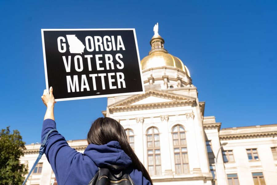The restrictive new voting law passed in Georgia sparks national debate on voting rights. (Megan Varner/The Ram)