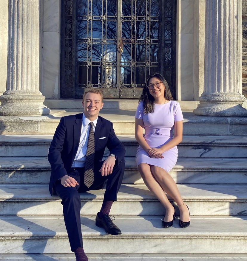Thomas Reuter, FCRH '22, (left) and Arianna Chen, FCRH '22, (right) win Executive President and Executive Vice President,  respectively. (Courtesy of Instagram)