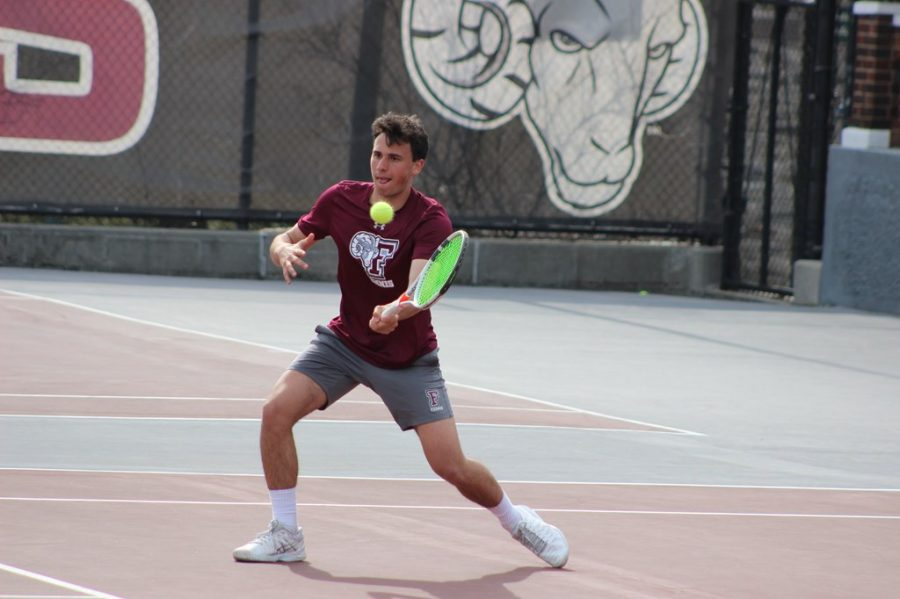 Men's Tennis cruised to their first two wins of the season and are hoping to finish the upcoming sets of weekend series in the same fashion. (Courtesy of Fordham Athletics)