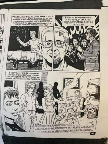 Fordham professor Mark Naison shares a page from a comic book he created as a student at Columbia University. (Courtesy of Mark Naison)