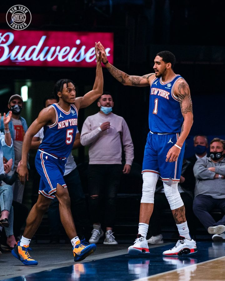 The New York Knicks have taken the league by storm and are poised to reach and potentially even make a run in the NBA Playoffs. (Courtesy of Twitter)
