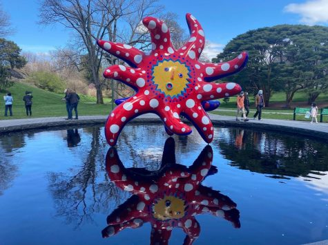 """Kusama: Cosmic Nature"" finally opens at the New York Botanical Gardens. (Courtesy of Sara Tsugranis/The Fordham Ram)"