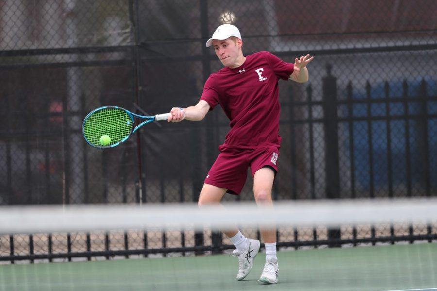 As+the+men%27s+tennis+team+continues+their+season%2C+they+had+a+small+stumble+against+St.+John%27s+and+Concordia+%28Courtesy+of+Fordham+Athletics%29