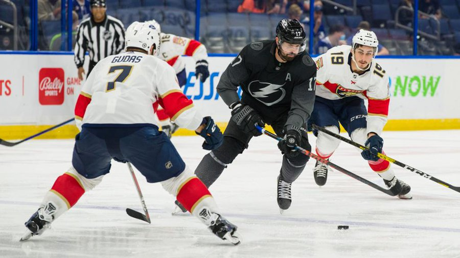 If the current results stood, the Lightning and Panthers would face off for a heavyweight first round bout. (Courtesy of Twitter)