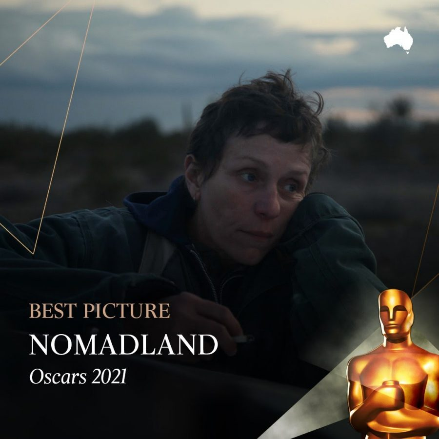 """Nomadland,"" directed by Chloe Zhao and starring Frances McDormand, took home the Academy Award for best picture. (Courtesy of Facebook)"