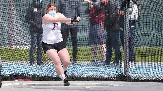 Metzler beat the school hammer record not once, but twice this past weekend. (Courtesy of Fordham Athletics)
