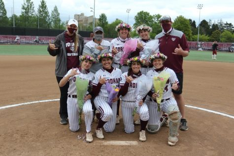 Softball honored its graduating players with on-field ceremonies before Friday and Saturday