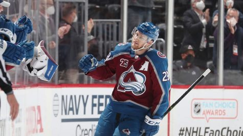 Nathan McKinnon (above) and the Avalanche dominated the Golden Knights to claim the first two games of the second round series. (Courtesy of Twitter)