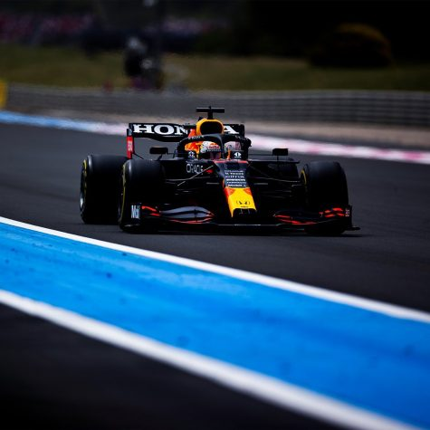 Red Bull driver Max Verstappen executed a flawless strategy as he won the French Grand Prix (courtesy of Twitter)