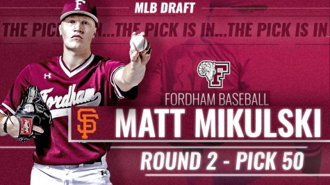 Mikulski is the second-highest pick in Fordham history, trailing only a fellow pitcher, Pete Harnisch.   (Courtesy of Fordham Athletics)