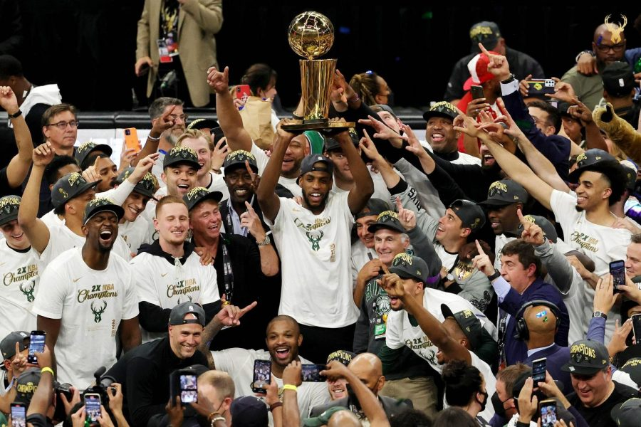 The Milwaukee Bucks were the unlikely champions of the 2021 NBA season. (Courtesy of Twitter)