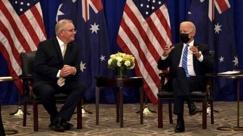 The United States announced a new submarine partnership with Australia and the United Kingdom, excluding France. (Courtesy of Twitter)