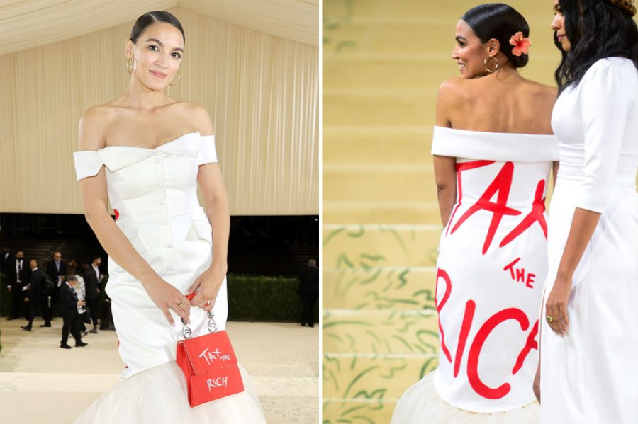 Representative Alexandria Ocasio-Cortez's Met Gala dress was a failed attempt to garner support for raised taxes.