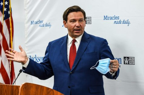 Florida Gov. Ron DeSantis has fought tirelessly to keep in place his ban on mask mandates by taking legal action. (Courtesy of PBS)