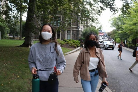 Vaccinated students must wear face masks indoors but arent required to wear them in outdoor areas on campus.