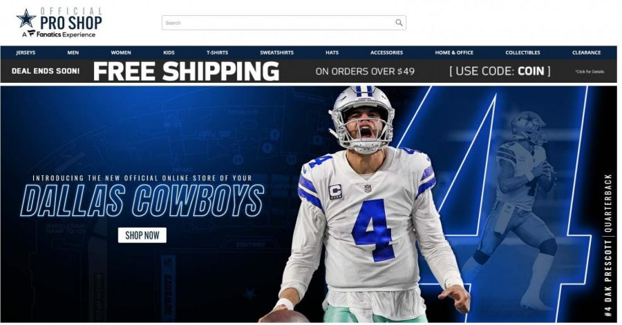 The Cowboys online web shop with Fanatics has already debuted. (Courtesy of Twitter)