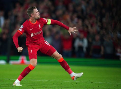 Hendersons stunning goal secured all three points for Liverpool to start off the Champions League group stages. (Courtesy of Twitter)