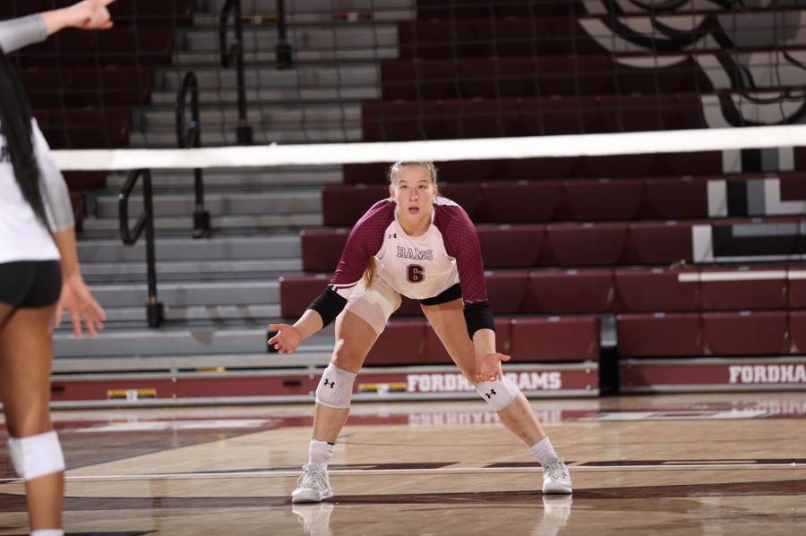 Junior libero Mallory Lipski won Atlantic 10 Defensive Player of the Week and was named to the All-Tournament team with her career-high 30 digs. (Courtesy of Fordham Athletics)