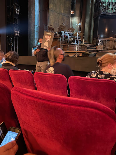 Attendees of Broadway shows are now required to wear masks during the duration of the show. (Courtesy of Brooke Solan for the Fordham Ram)