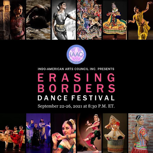 The 2021 Erasing Borders Dance Festival, presented by the Indo-American Arts Council featured 10 artists trained in different styles of Indian dance. (Courtesy of Facebook)
